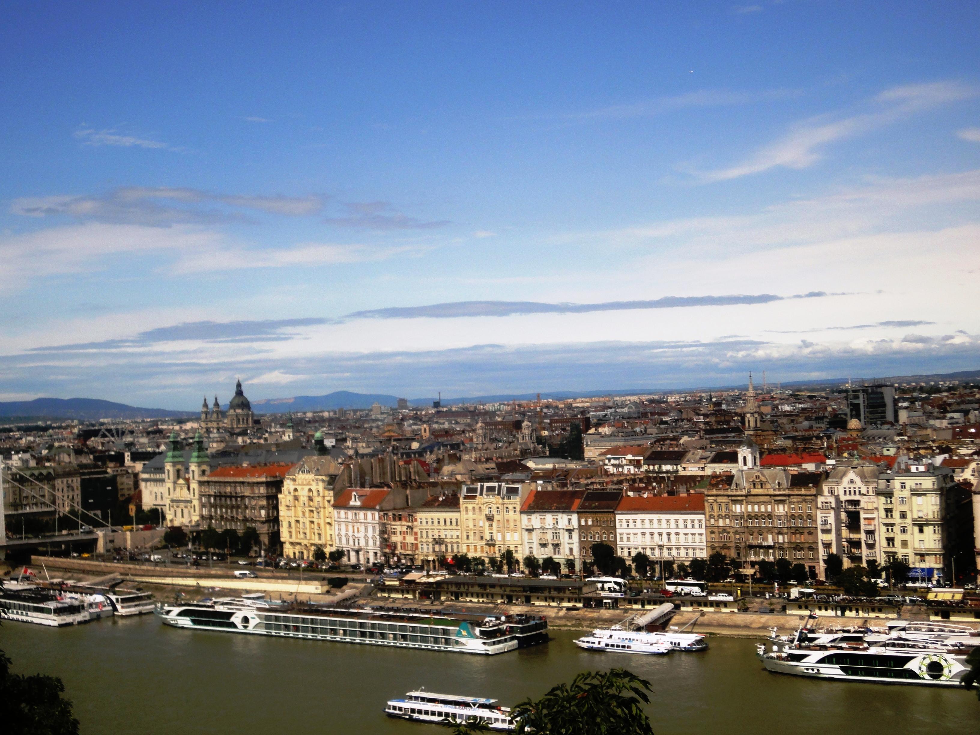 Вид на Дунай и Пешт