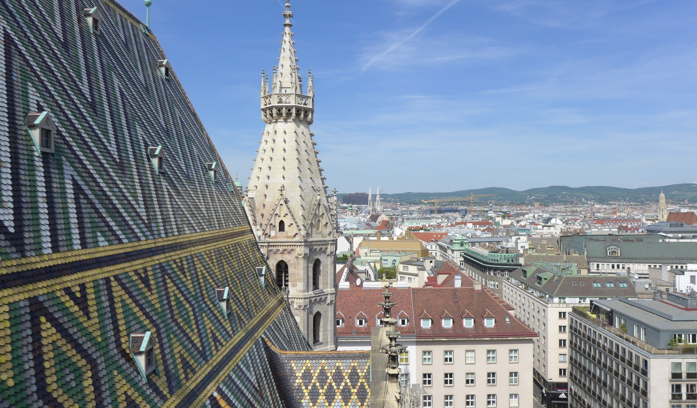 Вид с Северной башни Собор Св. Стефана
